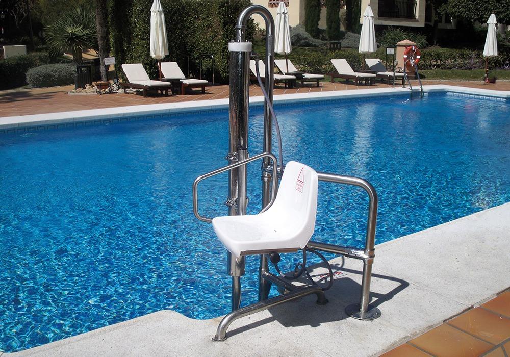 Cat logo ascensor acuatico for Normativa piscinas canarias
