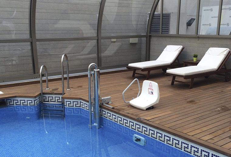elevador para piscina desmontable