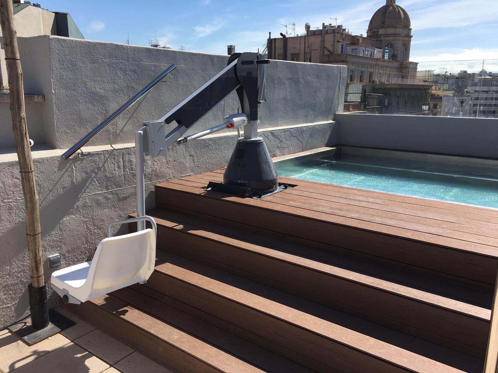Metalu 3000 ascensor acuatico for Piscinas municipales palma