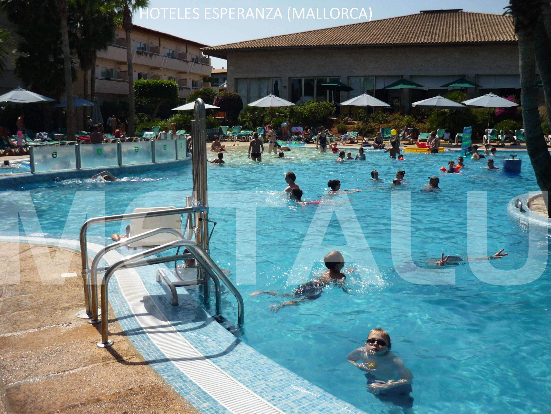 Elevador de piscina en verano preferimos hoteles for Piscinas municipales palma